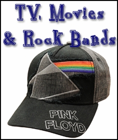 TV, Movies, Rock Bands, Video Games, Beer Brand Hats & More