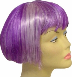 Two tone Colored Wig  (Light purple / Dark Purple)