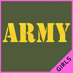 U.S  Army Military Girl's T-Shirt (Yellow)