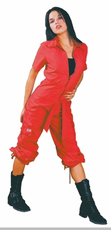 UFO Girly Hipster Flight Suit (Red)<!-- Click to Enlarge-->