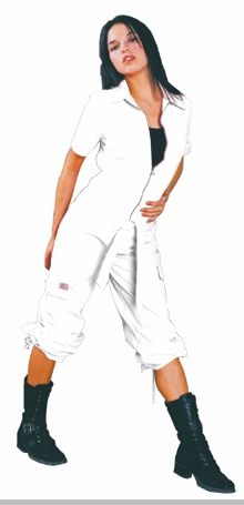 UFO Girly Hipster Flight Suit (White)<!-- Click to Enlarge-->