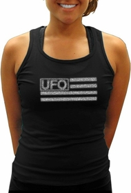 UFO Girly Racer Back Tank Top (Black)