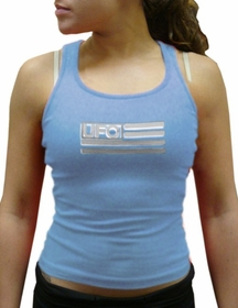 UFO Girly Racer Back Tank Top (Light Blue)