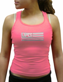 UFO Girly Racer Back Tank Top (Light Pink)