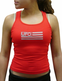 UFO Girly Racer Back Tank Top (Red)