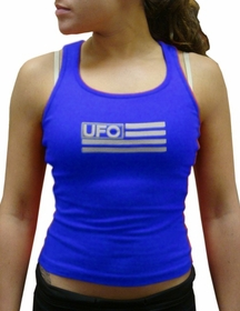 UFO Girly Racer Back Tank Top (Royal)