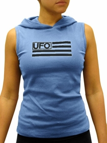 UFO Girly Sleeveless Hooded Tee (Light Blue)