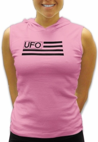 UFO Girly Sleeveless Hooded Tee (Light Pink)