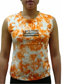UFO Girly Tie Dye Tank Tops (Orange)