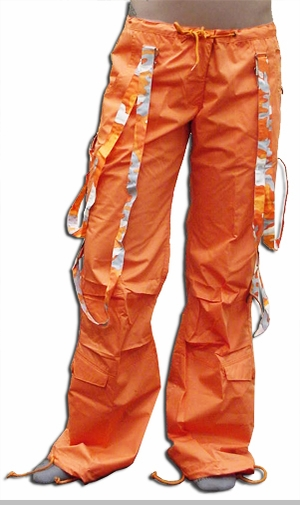 UFO Strappy Hipster Girls Pants (Orange/Orange Camo)<!-- Click to Enlarge-->
