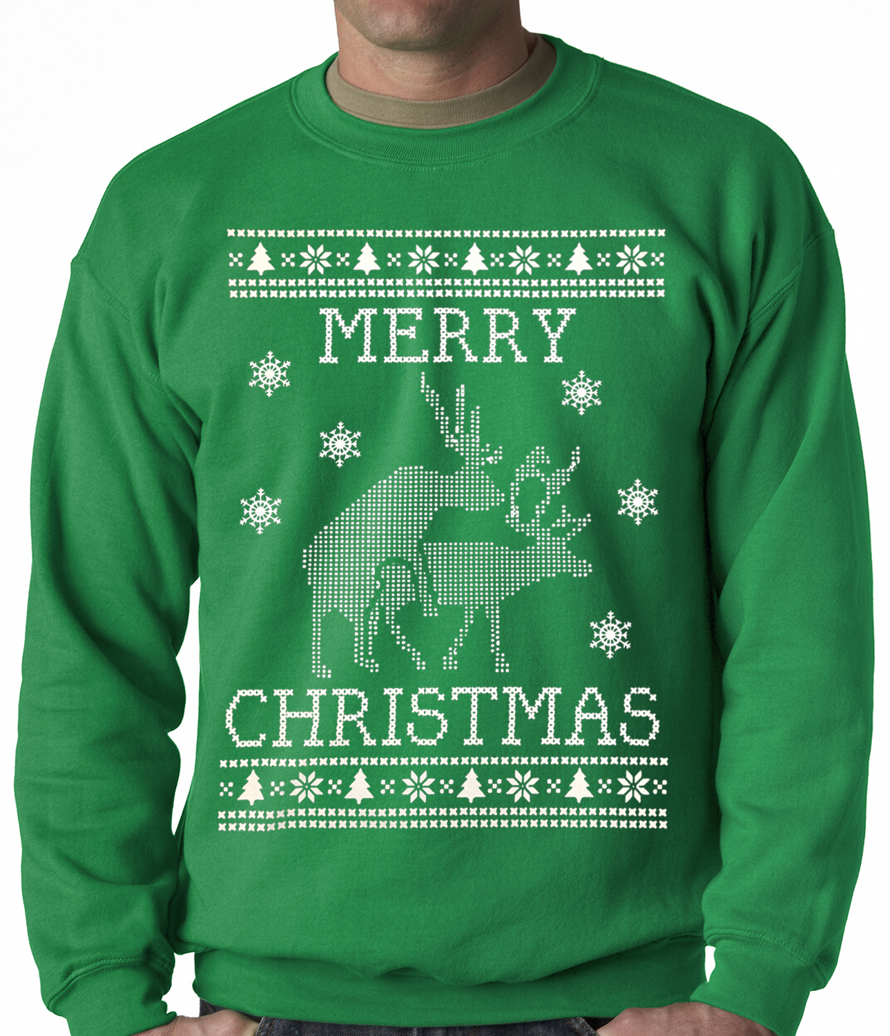 Ugly Christmas Sweater - Humping Reindeer Ugly Christmas Adult ...