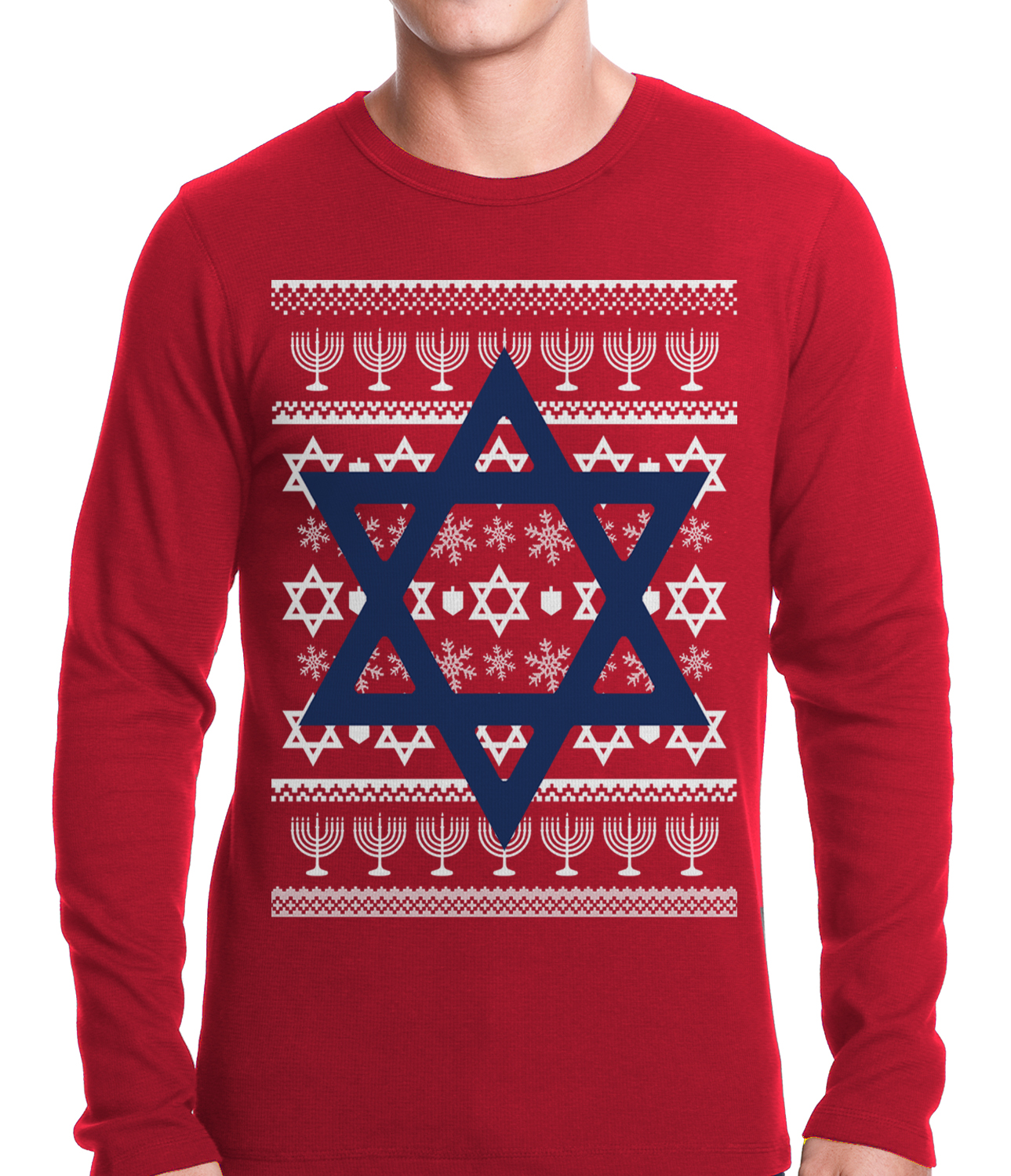 Jewish Star Hanukkah Sweater Thermal Shirt