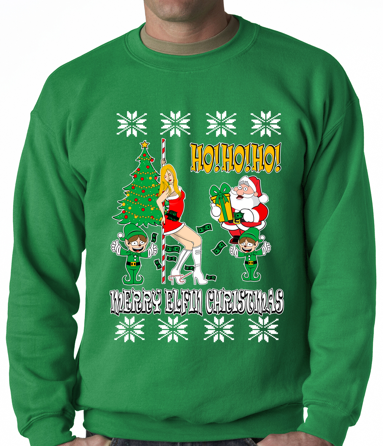 Santa and the Stripper Crewneck Sweatshirt