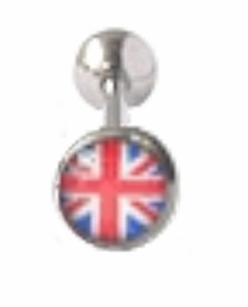 UK Flag Tongue Barbell
