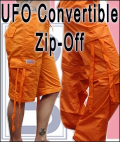 Unisex Basic UFO Pants with Zip Off Legs to make Shorts