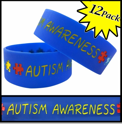 Unisex Bracelet - Autism Awareness(12 Pack)<!-- Click to Enlarge-->