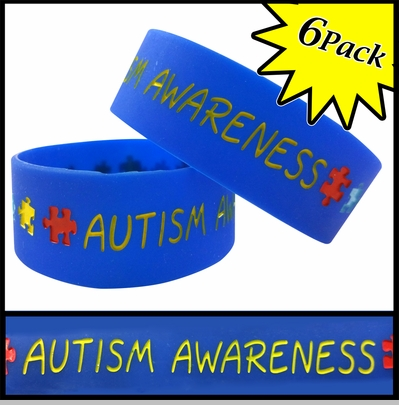 Unisex Bracelet - Autism Awareness(6 Pack)<!-- Click to Enlarge-->