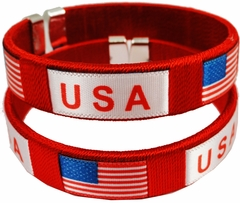 USA International Flag Cuff Bracelet