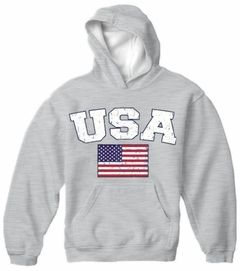 USA Vintage Flag International Hoodie