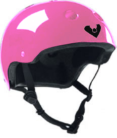 Viking Adjustable Size Bike & Skateboard Helmet  (Pink)