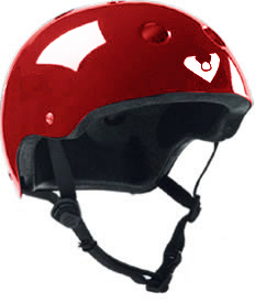 Viking Skateboard Helmet (Red)
