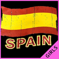 Vintage Spain Waving Flag Girl's T-Shirt