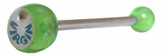 Virgin Green Tongue Barbell