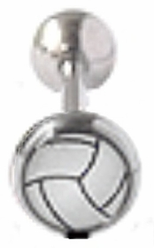 Vollyball Tongue Barbell