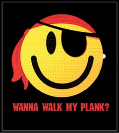Wanna Walk the Plank Smiley Face Pirate T-Shirt