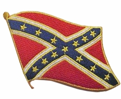 Waving Confederate Flag Patch