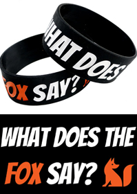 What Does the Fox Say? Bracelet (Wide Rubber Bracelet)
