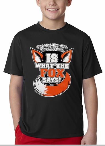 What Does The Fox Say? Ring-Ding-Ding-Ding Kid's T-Shirt <!-- Click to Enlarge-->