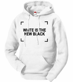White Is The New Black Adult Hoodie