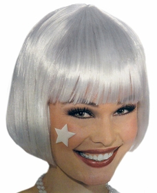 White Wigs - Pure White Colored Wig