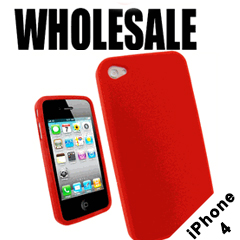 Wholesale iPhone Cases - Silicone Protective Cases for iPhone 4 and 4S (12-Pack)