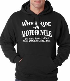 Why I Ride a Motorcycle Adult Hoodie