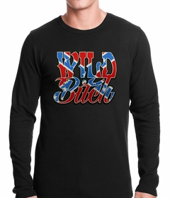 Wild Bitch Confederate Rebel Flag Thermal Shirt
