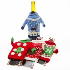Wine Bottle Ugly Sweater - Ugly Wine Bottle Sweater (Assorted)