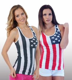 Womens American Flag Tank Tops - USA Tanks