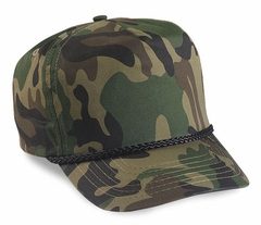 Woodland Camouflage Solid Panel Hat