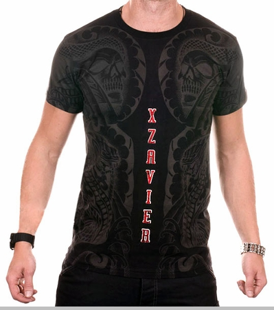 Xzavier Body Tattoo Men's T-Shirt (Black)<!-- Click to Enlarge-->
