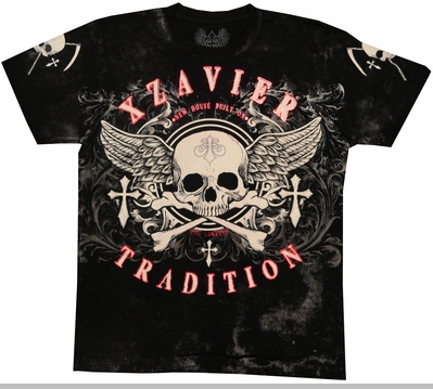 "Xzavier ""Buried Alive"" Men's T-Shirt (Black)<!-- Click to Enlarge-->"