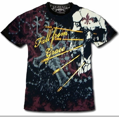 "Xzavier Da Grind ""Fall From Grace"" T-Shirt<!-- Click to Enlarge-->"