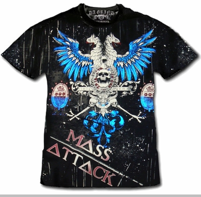 "Xzavier Da Grind ""Mass Attack Fighting Falcon"" T-Shirt<!-- Click to Enlarge-->"