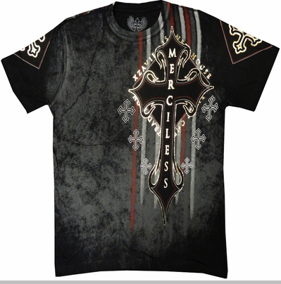 "Xzavier ""Distorted"" Men's T-Shirt (Black)<!-- Click to Enlarge-->"