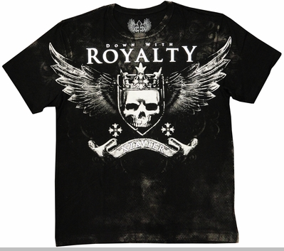 """Xzavier """"Down With Royalty"""" Men's T-Shirt (Black)<!-- Click to Enlarge-->"""