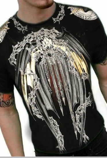 """Xzavier """"Iron Protector"""" Couture T-Shirt (Black)<!-- Click to Enlarge-->"""