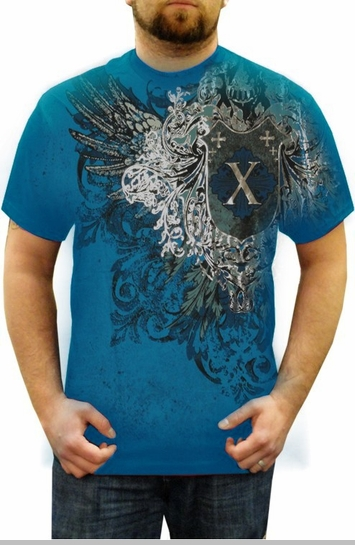 "Xzavier ""Lincoln"" T-Shirt (Turquoise)<!-- Click to Enlarge-->"