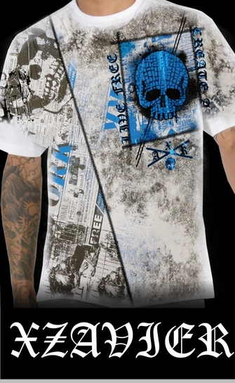 "Xzavier ""Live Free Art Work"" T-Shirt (White)<!-- Click to Enlarge-->"
