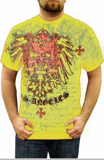 "Xzavier ""Live & Love"" T-Shirt (Yellow)<!-- Click to Enlarge-->"